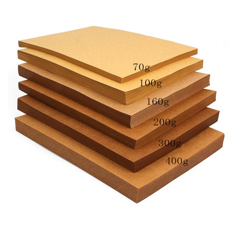 High Quality A4 Brown Kraft Paper DIY Handmake Card Making Craft Paper Thick Paperboard Cardboard