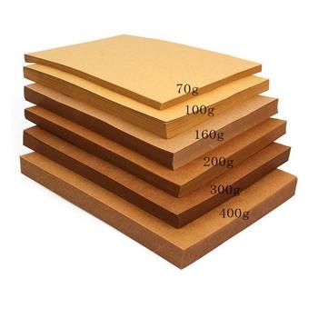 Wysokiej jakości A4 brązowy papier pakowy DIY handmade karty do robienia papieru czerpanego grubej tektury tektury tanie i dobre opinie OLOEY