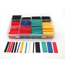 530 Pcs/Box DIY Pack PE Heat Shrink Wrap Tube For Phone/Headphone Charger Insulation Tubing Thermoretractile Sleeves 1/4 1/8