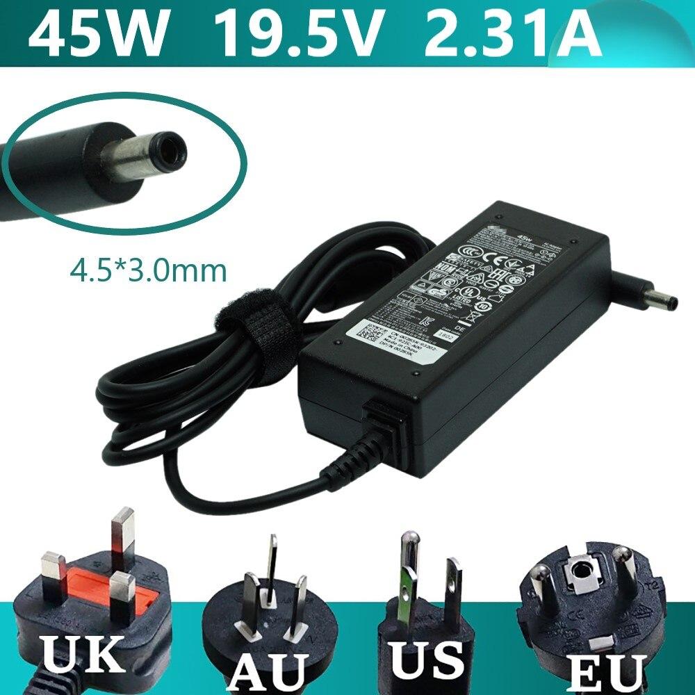 Зарядное устройство для ноутбуков Dell Inspiron XPS13 19,5 4,5 3,0 9360 XPS12 LA45NM140 voстроп 9350 в 9343 а 45 Вт 9365*5000 мм