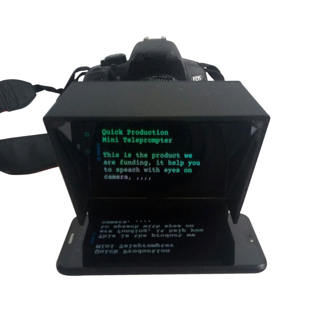TZT Mini téléprompteur Portable inscripteur Mobile téléprompteur vidéo d'artefact avec télécommande - 3