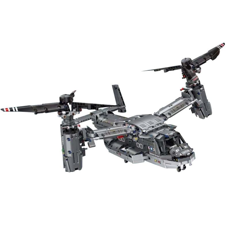 Yeshin PG13003 High-Tech Car Toys The 42113 APP RC Motorized V-22 Osprey Airplane Model Building Block