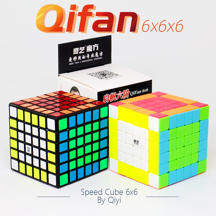 6x6 Puzzle Cube Qiyi Qifan S 6x6x6 Cube Speed 6Layers Black Stickerless Cubo Magico Game Cube Toy For Children