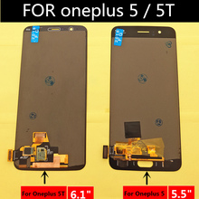 FOR Oneplus 5 A5000 LCD Display+Touch Screen Digitizer Assembly Replacement Accessories FOR oneplus 5T A5010 LCD цена в Москве и Питере