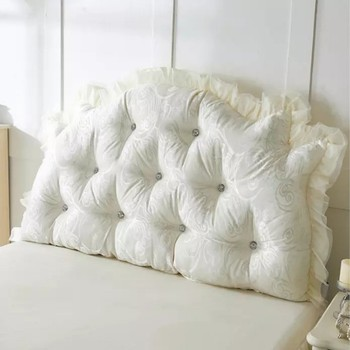 Bedding rustic 100% cotton big bedside bed Cushion Princess Cushion Big  pillow /cushions  size  595/70.9/78.8 Inch bed  US