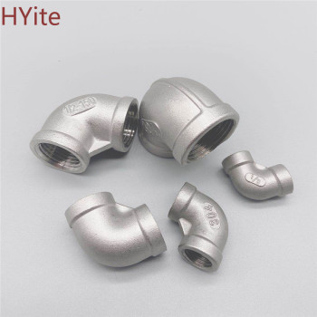 New 1/8 1/4 3/8 1/2 3/4 1 1-1/4 1-1/2 BSP Elbow 90 Degree Angled Stainless Steel 304 Female Threaded Pipe Fitting nazr 1