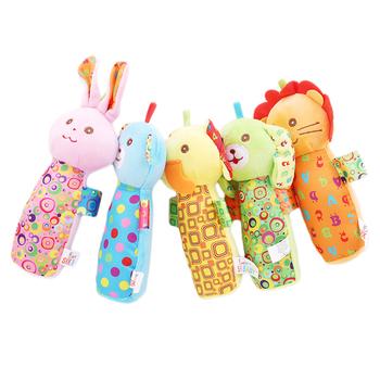 Cartoon grzechotki dla dzieci Mobiles kije miękki pluszowy lalka bawełna słodkie łóżko wiszące dzwonek ręczny zabawka w kształcie zwierzątka dla dzieci zabawki tanie i dobre opinie LAIMALA 7-12m 13-24m Pluszowe CN (pochodzenie) Unisex 768716 rozdzielone SOFT 13 5*16 5cm 10*15*10 none