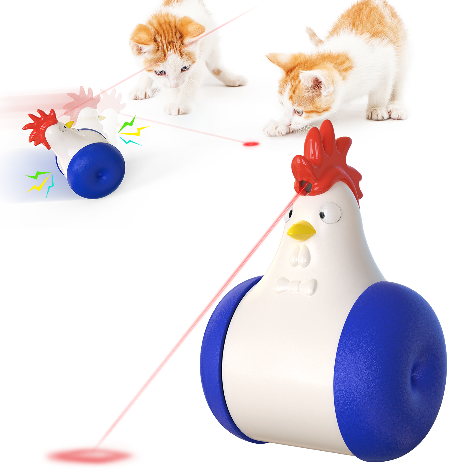 Rooster Type Laser Cat Toy