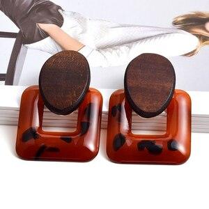 Новое поступление акриловые серьги с геометрическим рисунком высококачественные серьги-капли ювелирные изделия Модные трендовые аксессу...