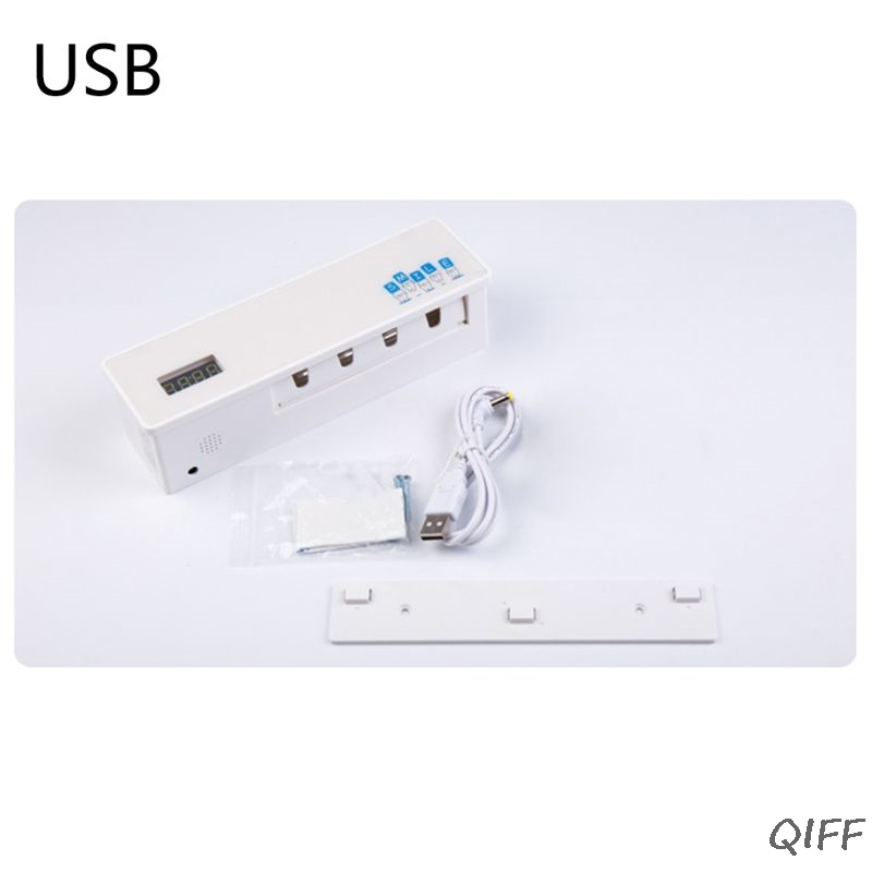 UV Toothbrush Sanitizer Sterilizer 4 Wall Mounted Family Toothbrush Holder image