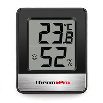 ThermoPro TP49 Mini stacja pogodowa czarny biały higrometr pokojowy termometr tanie i dobre opinie Ogród termometr Gospodarstw domowych termometry Z tworzywa sztucznego Cyfrowy Temperatura Wilgotność Metrów -58 °F ~ 158°F (-50 °C ~ 70 °C)
