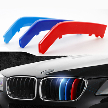 3Pcs New For BMW E30 E36 E34 E46 E90 E60 E39 F30 F10 F20 E87 E92 E91 Car Front Grill Trim Grille Stripes Cover Accessories Seal image