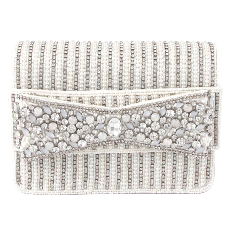 Bag For Women Dazzling Rhinestone Color Hollow Out Clutches Bags Women Crystal Evening Bags Wedding Party Banquet Minaudiere Bag-BeeInFly