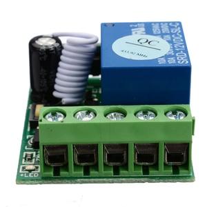 Image 5 - DC12V 10A bricolage sans fil relais télécommande commutateurs Module 1 canal récepteur sans fil relais RF 433MHz télécommande commutateur