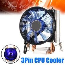 LED CPU Cooler Cooling Fan Heatsink 90mm Double Heatpipe CPU Quiet Cooled Fans For Intel Socket LGA1156/LGA1155/LGA775 AM3 AMD кулер cooler master v8 gts rr v8vc 16pr r2 intel lga2011 lga2011 3 lga1366 lga1150 1151 lga1155 lga1156 lga775 amd fm1 fm2 fm2 am2 am2 am3 am3