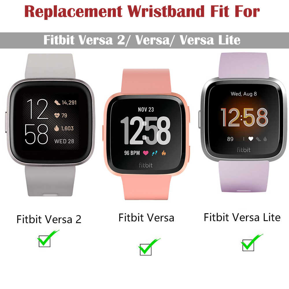 Accessoires Band Voor Fitbit Versa 2 Band Soft Silicone Wrist Waterdicht Vervanging Watch Band Voor Fitbit Versa/Versa 2