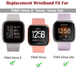 Image 5 - Duszake Band For Fitbit Versa/ Versa Lite/ Versa 2 Silicone Adjustable Replacement Classic Fitness Strap For Fitbit Versa 2 Band