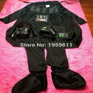 Image 3 - Darth Vader(Anakin Skywalker) Kids Boy Darth Vader Cosplay Costume Suit  Kids Movie Costume With Sword