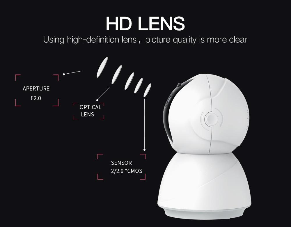 Heec4c4a5a2f944828de35a92f36d87b1G SDETER 1080P 720P IP Camera Security Camera WiFi Wireless CCTV Camera Surveillance IR Night Vision P2P Baby Monitor Pet Camera
