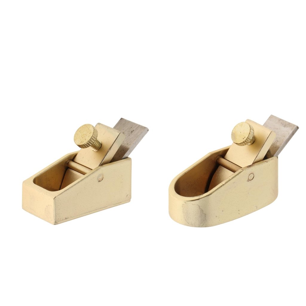 2pcs Plane Woodworking Tool Brass Body luthier Tool Violin maker Mini Plane Gold