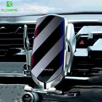 10W Wireless Charger Car Phone Holder Infrared Sensor GPS Air Vent Mount Phone Car Holder Automatic Clamping Phone Stand Charger