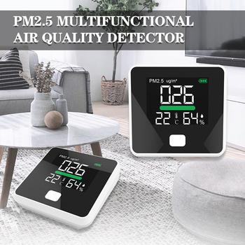 Cyfrowy Monitor jakości powietrza PM2 5 cyfrowy detektor gazu w czasie rzeczywistym analizator wilgotności powietrza czujnik PM 2 5 analizatory miernik tanie i dobre opinie INTELSTONE CN (pochodzenie) Elektryczne PM2 5 Detector 0-999 ug m