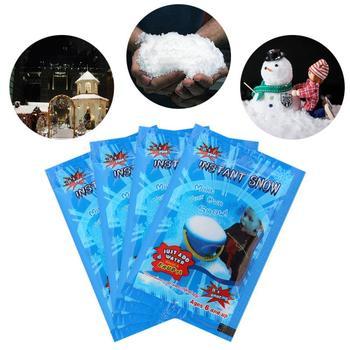 3 6 10 sztuk sztuczny śnieg śnieg instant w proszku Super chłonne mrożone białe śnieg Party magiczne rekwizyty wystrój na święta bożego narodzenia tanie i dobre opinie CN (pochodzenie) Snowflake Snow Flake As Picture Christmas Absorbent resin About 9*6 5cm Drop Shipping