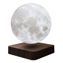 New 13 cm netic Levitation LED Press 3D Print Light Bedroom Moon
