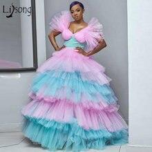 Бальные платья пачки конфетных цветов розового и небесно голубого
