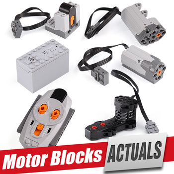 Power Functions Parts MOC Technic Electric RC Motors Compatible With 5292 8883 8884 RC Motor For 42009 Set Toys Building Blocks image