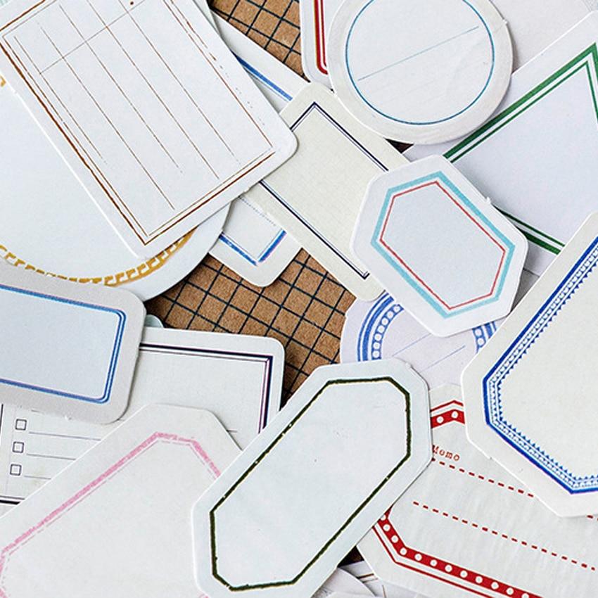 46pcs/pack Retro Labels Memo Stickers Pack Set Planner Scrapbooking Stickers Stationery Decorative Escolar School Supplies