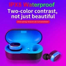 Earphones Bluetooth 5.0 TWS Headsets Wireless Hifi Stereo In Ear Mobile Phone Waterproof Sports Earbuds Mic
