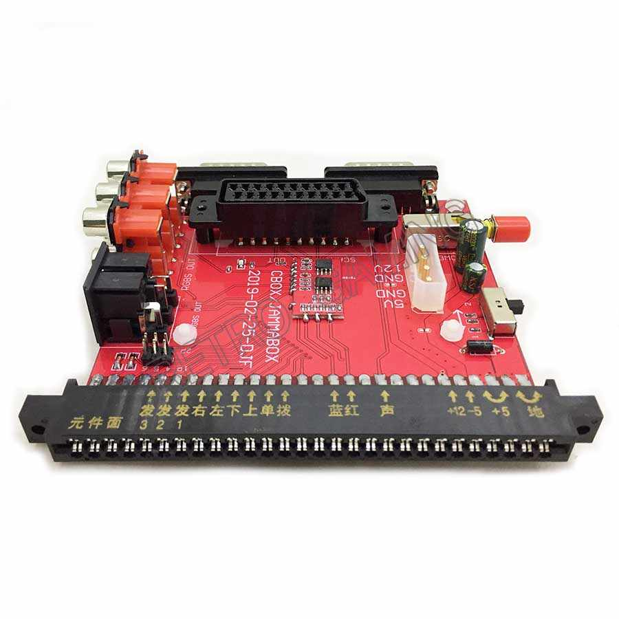 SNK 마더 보드 JAMMA to DB 15PIN Joypad 변환 보드 JAMMA CBOX Converter, 컬러 모니터 용 SCART 출력 포함