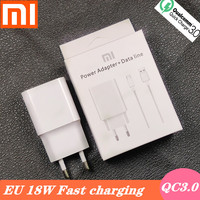 Xiaomi cargador rápido 18W QC3.0 UE 9V2A adaptador de corriente USB cable de tipo C para Xiaomi Redmi Nota 7 pro Mi 6 6X 8 A2 A1 Nota 8 max3 mi 8 lite