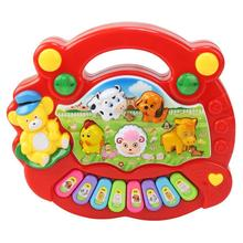 цена на Baby Kid Musical Educational Animal Farm Piano Developmental Music Toy Gift Educational Toys Xylophone Music
