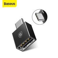 Baseus Type C 남성 USB 여성 어댑터 Coverter 삼성 갤럭시 S9 S8 플러스 참고 8 OTG USB C 어댑터 한 플러스 5t 노키아 8