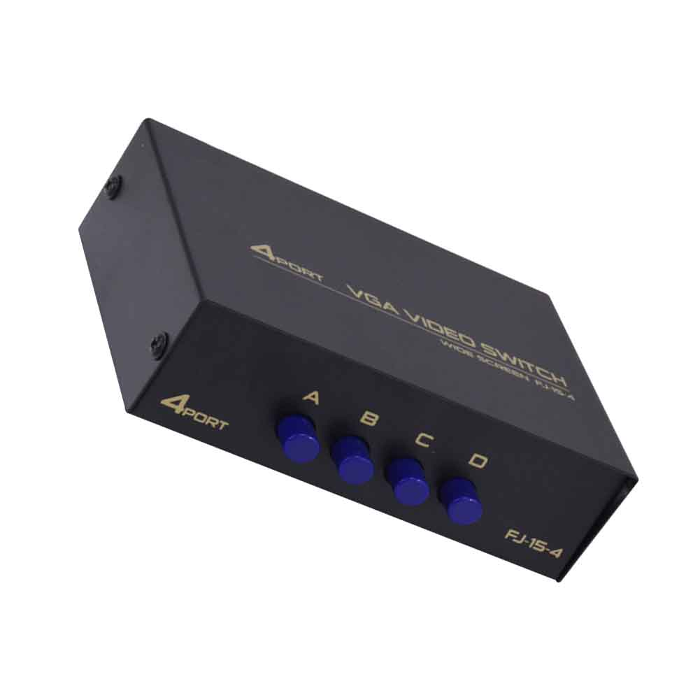 4 Ports VGA Displayport TV Projector Accessories Stable For Computer Splitter Box Metal KVM Switch USB 2.0 Hub Sharing HDMI