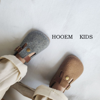Children Shoes 2020 Autumn Winter Korean-Style Kids Shoes Girls Wooden Shoes Boys T-Shaped Shoes Toddler Kids Leather Shoes tanie i dobre opinie Babyeasier kids 7-12y CN (pochodzenie) Wiosna i jesień Damsko-męskie Dobrze pasuje do rozmiaru wybierz swój normalny rozmiar