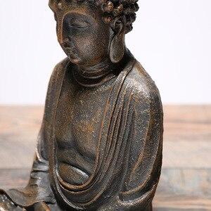 Image 5 - Vintage Sitting Buddha Statue Zen Gesture Thai Buddha Figurine Sculpture Home Office Outdoor Garden Decoration Ornament Crafts