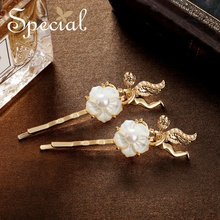 The SPECIAL New Fashion euramerican flower  pearl hair accessory, hairpins for women the kiss of Angel.S1815H