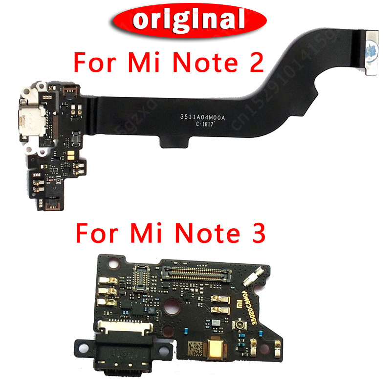 Original Replacement Spare Parts For Xiaomi Mi Note 3 Pro Charging Port Flex Cable For Mi Note 2 USB Charger Board PCB Connector
