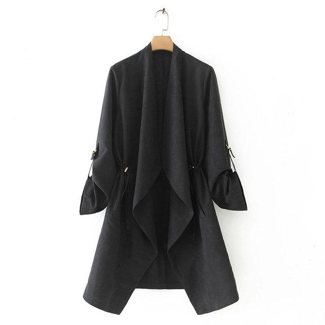 2019 nowych kobiet elegancki jednolity kolor garnitury casualowe damska z długim rękawem otwórz stitch znosić płaszcz rozrywka marka topy CT290