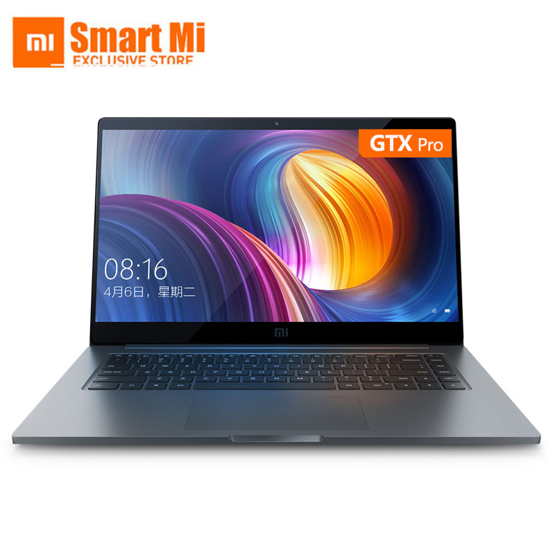Xiao mi mi Laptop Air Pro 15.6 Polegada 8550U GTX 1050 Max-Q Notebook Intel Core i7 CPU NVIDIA GB 256GB Janelas de Impressões Digitais 10 16