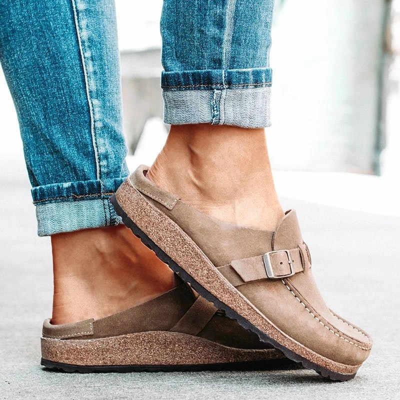 2020 flats ayakkabı kadın yaz bahar sandalet moda katı toka kadın flats ayakkabı rahat plaj bayanlar artı boyutu yaz ayakkabı