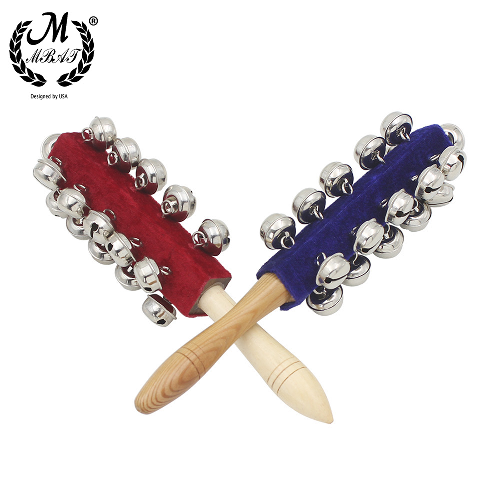 M MBAT Wooden Orff Instruments 21 Bell Rod Toys Early Education Musical Instruments Stick Shaker Musical Toy for Children Kid