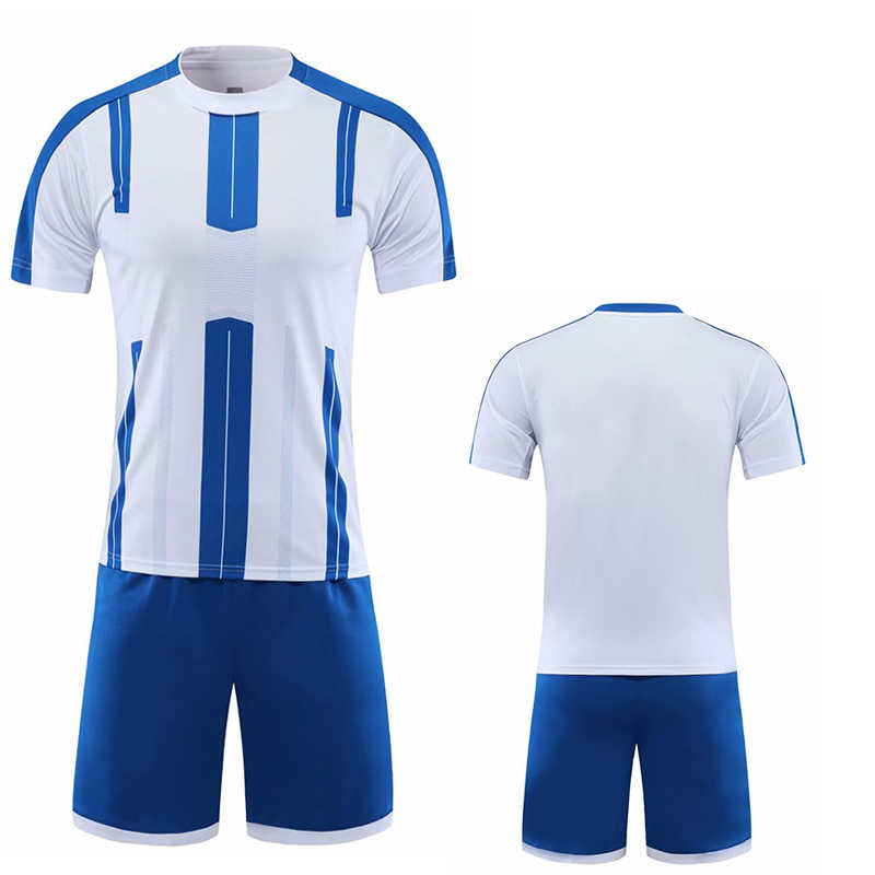 Camisa de futebol branca de manga curta conjunto amarelo adulto uniforme de futebol homem rosa camisa de futebol da equipe nome personalizado número diy