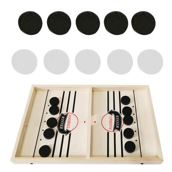 Head-to-Head Wooden Desktop Hockey Table Game for Kids and Adults, Portable Hock R3ME image