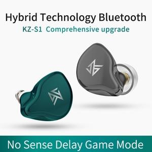 Image 3 - KZ S1/S1D TWS Auriculares auriculares inalámbricos con bluetooth con Control táctil, dinámicos e híbridos, deportivos, KZ S2 ZSNpro