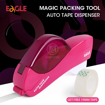 Eagle Magic Auto Tape Dispenser with free 19mm Tape Automatic Tape Cutter Washi Tape Dispenser for office school home supplies фото