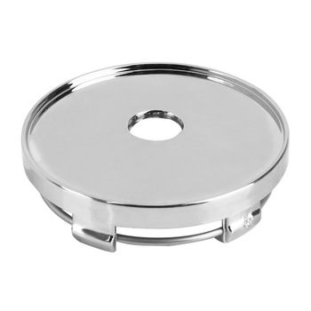 LEEPEE Car-styling No Logo Auto Hubcaps Cover Car Wheel Cover Dust Cover Silver ABS Chrome Wheel Center Cap 60mm image